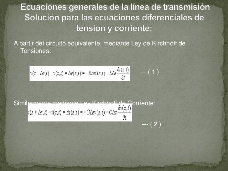 A partir del circuito equivalente, mediante Ley de Kirchhoff de  Tensiones:                                              -...