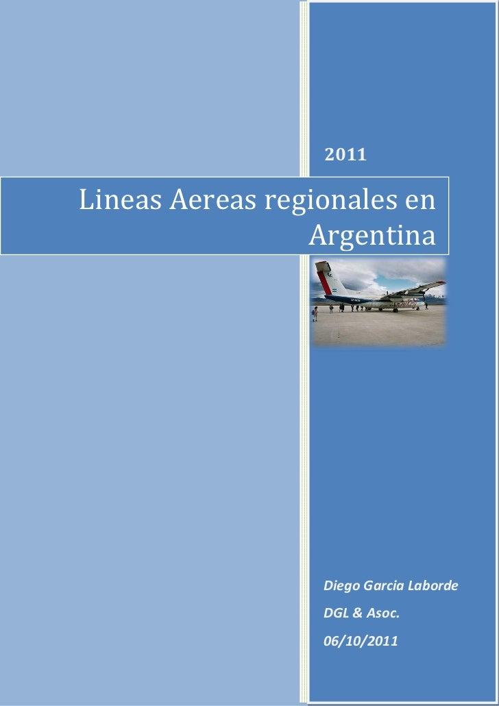 Lineas Aereas regionales en                  2011                 Argentina                  Diego Garcia Laborde         ...