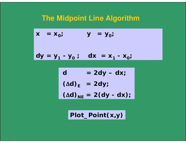Midpoint Line Drawing Algorithm In C : Line circle draw