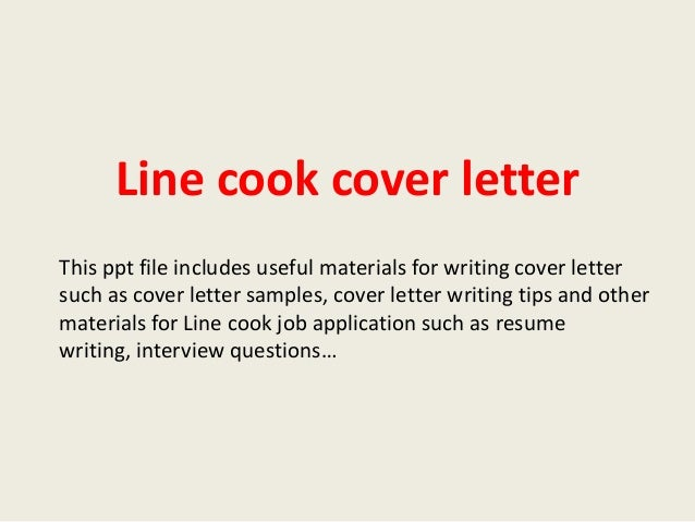 Awesome Line Cook Cover Letter
