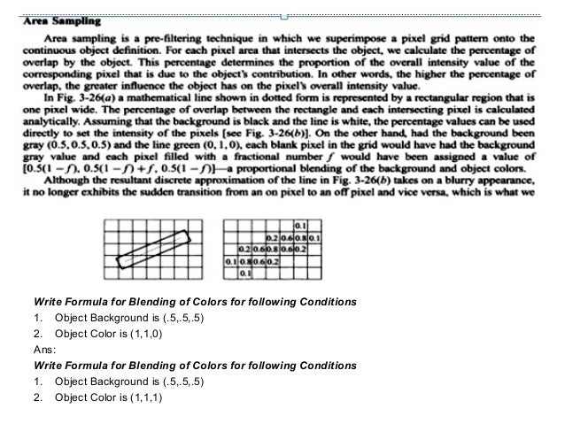 Line Drawing Algorithm In Computer Graphics Lecture Notes : Line drawing algorithm and antialiasing techniques