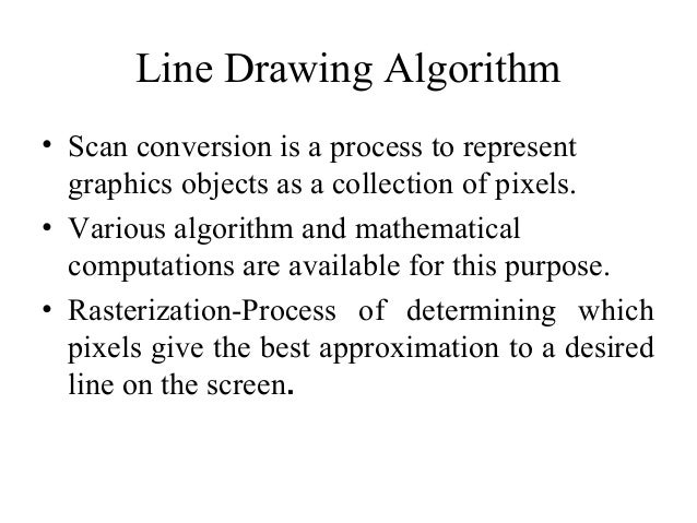 Line Drawing Algorithm Pixels : Line drawing algorithm and antialiasing techniques
