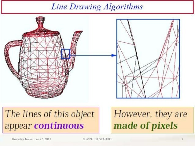 Line Drawing Algorithm In Computer Graphics Notes : Line drawing algorithms