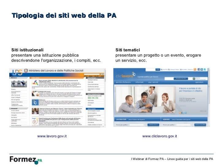 Linee guida per i siti web della pa for Siti web della casa