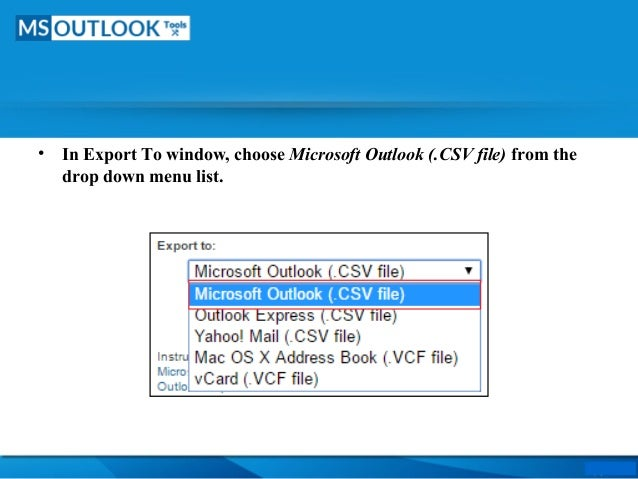 Export LinkedIn Contacts to CSV file & Import CSV to Outlook