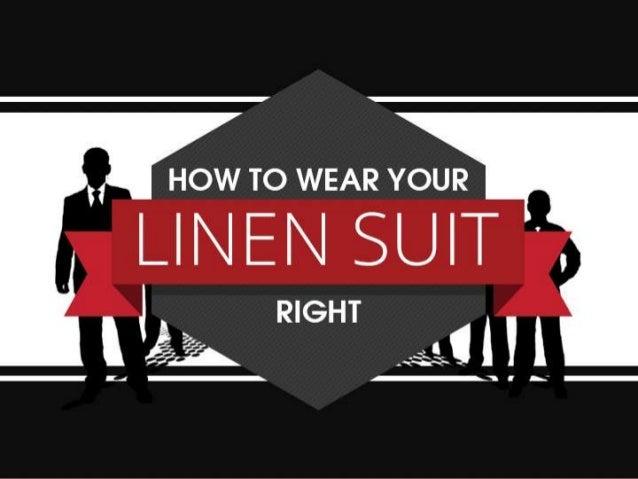 Montagio Linen Suits