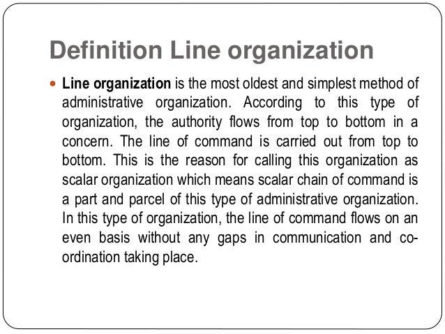 Line organization Slide 2