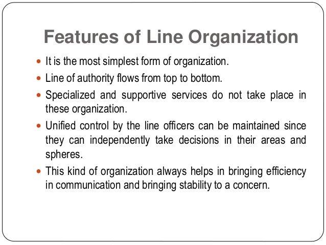 Line organization Slide 3