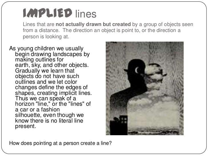 Implied Line Art Quizlet : Line presentation