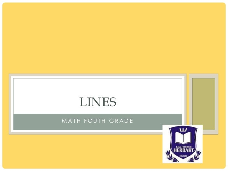 LINESMATH FOUTH GRADE