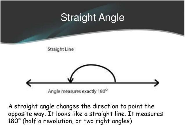 how to write a straight angle