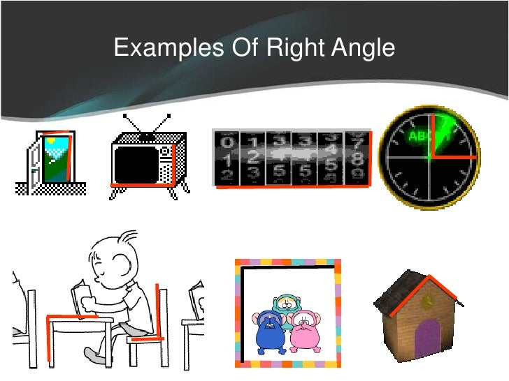 Real Life Example Right Angle : Lines and angles