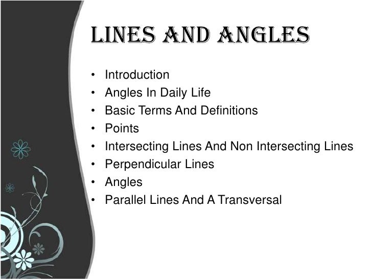 Line Art With Lines And Angles : Lines and angles