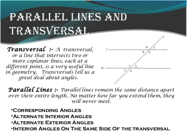 Lines and angles - Same side exterior angles are congruent ...