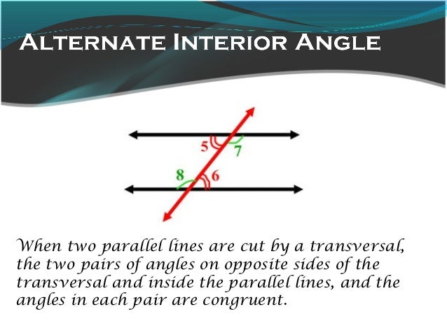 Lines and angles - Alternate interior exterior angles ...