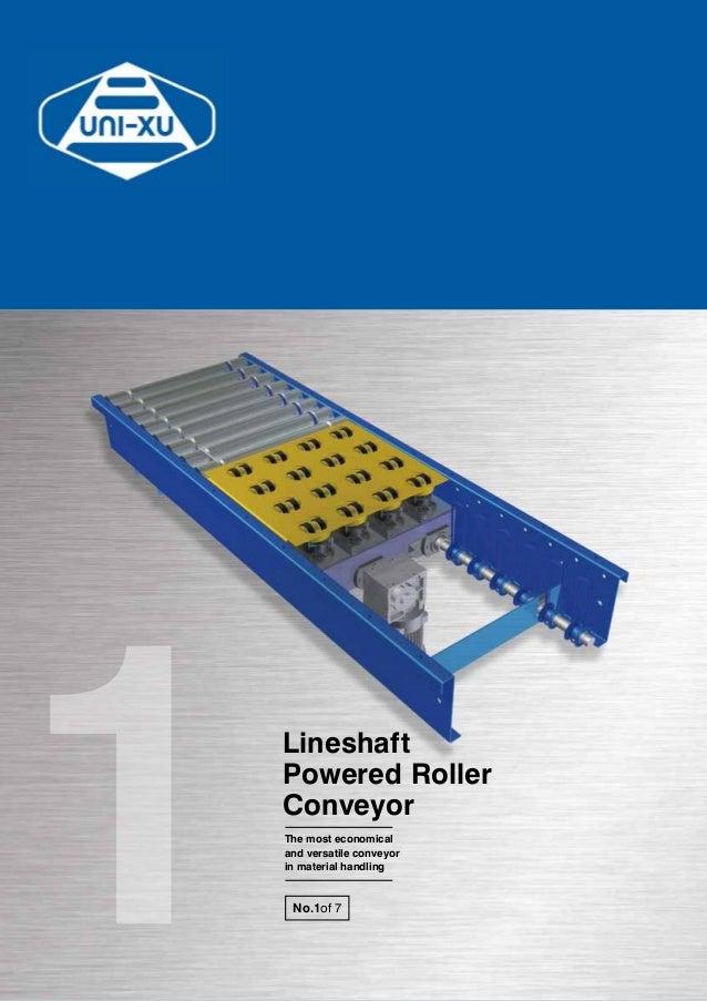 Lineshaft powered-roller-conveyor