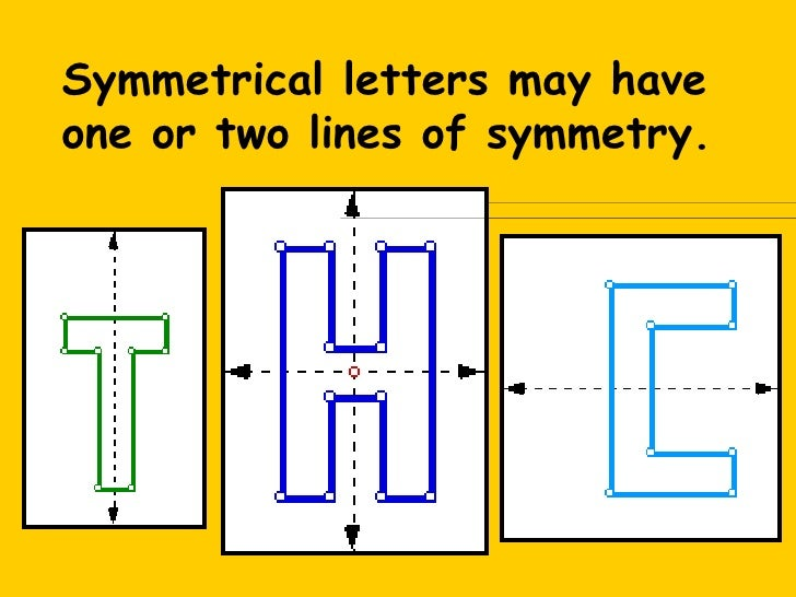 which letter has rotational symmetry line symmetry 40709
