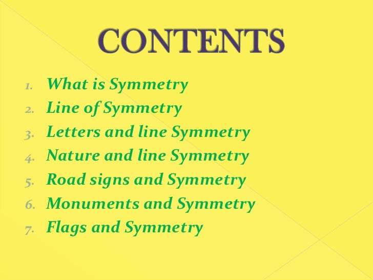what is the line of symmetry