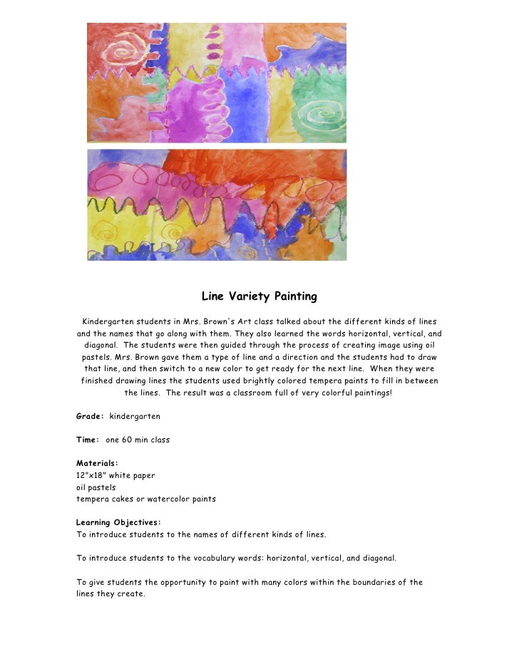Line variety painting(lesson plan)