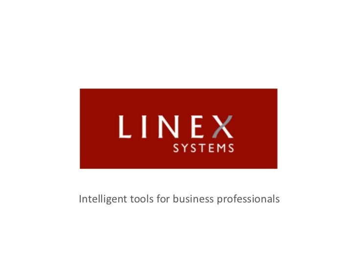 Intelligent tools for business professionals<br />