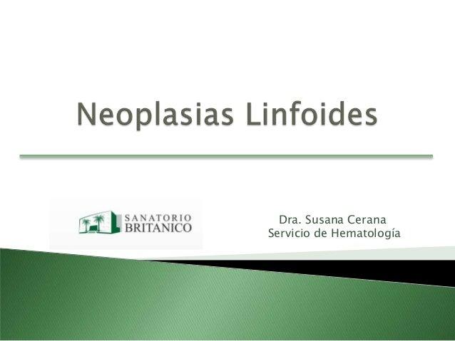 Servicio de Hematología Dra. Susana Cerana