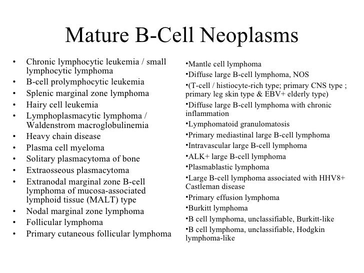 Mature b-cell neoplasms