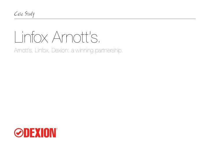 Linfox Arnott's.Arnott's, Linfox, Dexion: a winning partnership.