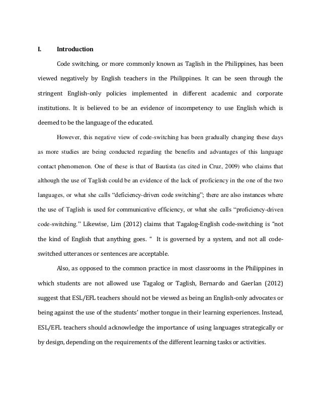 taglish and english essay How do you create a tone within an essay  english, science, history, and more  tone, audience & purpose in essays related study materials.