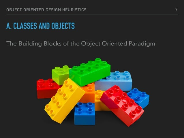 OBJECT-ORIENTED DESIGN HEURISTICS A. CLASSES AND OBJECTS The Building Blocks of the Object Oriented Paradigm 7