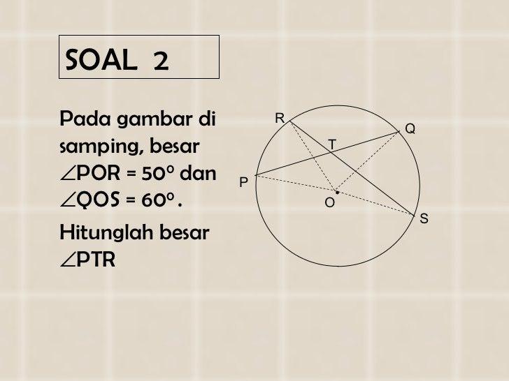 SOAL   2 <ul><li>Pada gambar di   samping, besar   POR =  50 0  dan   QOS =  6 0 0  .  </li></ul><ul><li>Hitunglah besar...