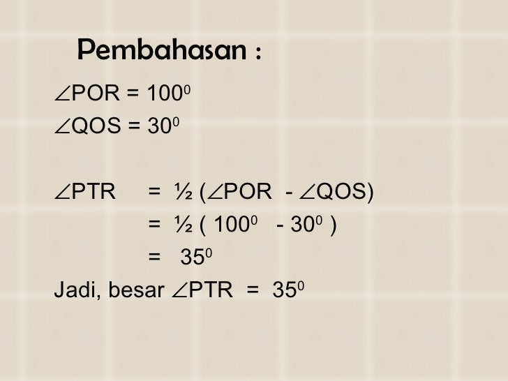 Pembahasan : <ul><li> POR = 1 0 0 0  </li></ul><ul><li> QOS =  3 0 0 </li></ul><ul><li> PTR  =  ½ (  POR  -   QOS) </...