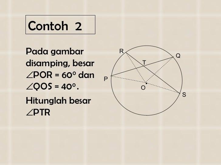 Contoh  2 <ul><li>Pada gambar disamping, besar   POR = 60 0  dan   QOS = 40 0  .  </li></ul><ul><li>Hitunglah besar   P...