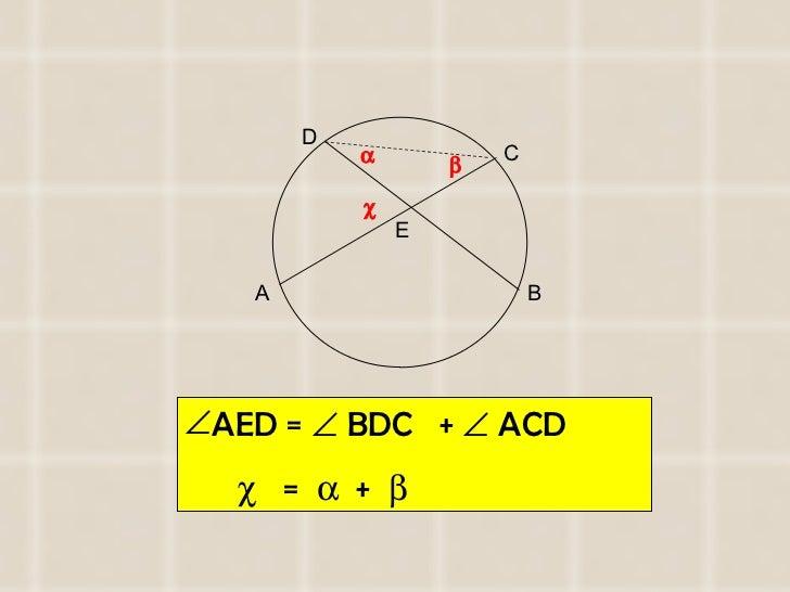<ul><li>AED =    BDC  +    ACD  </li></ul><ul><li>   =     +   </li></ul>A B C D E   
