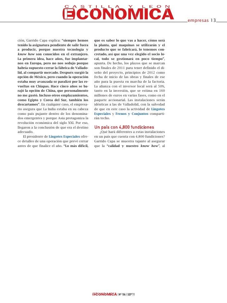 """empresas 13ción, Garrido Capa explica: """"siempre hemos       que es saber lo que vas a hacer, cómo serátenido la asignatura..."""