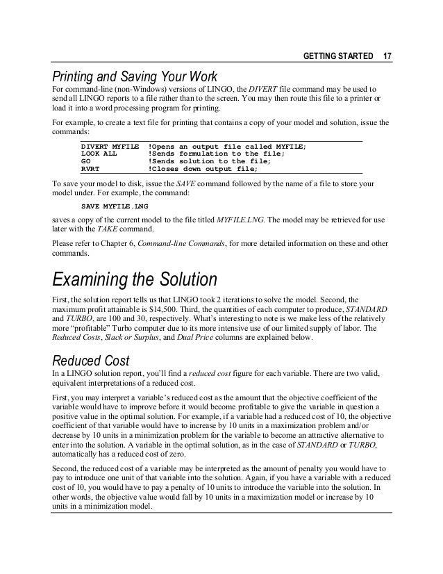 Lingo Users Manual