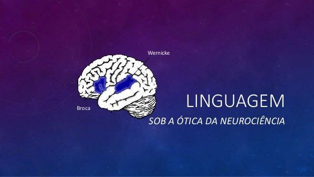 LINGUAGEM SOB A ÓTICA DA NEUROCIÊNCIA Wernicke Broca