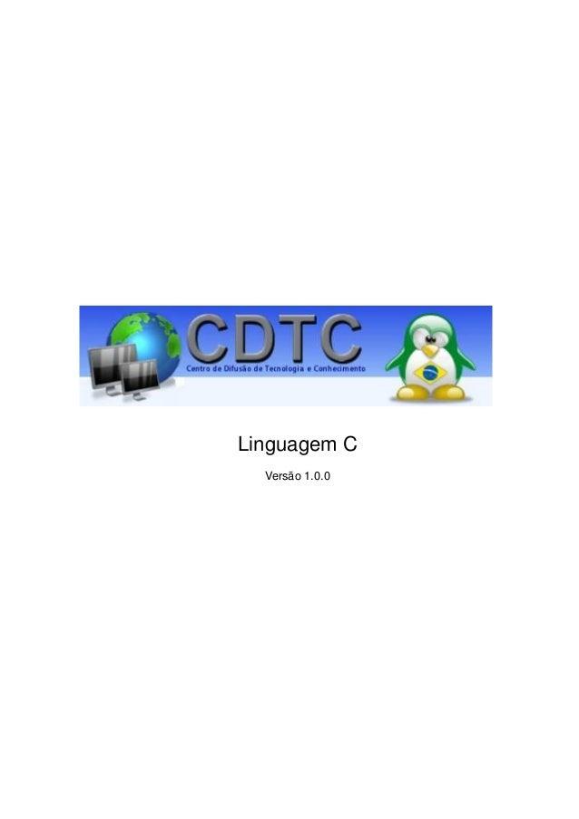 Linguagem C Versão 1.0.0