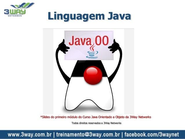 Linguagem Java *Slides do primeiro módulo do Curso Java Orientado a Objeto da 3Way Networks Todos direitos reservados a 3W...