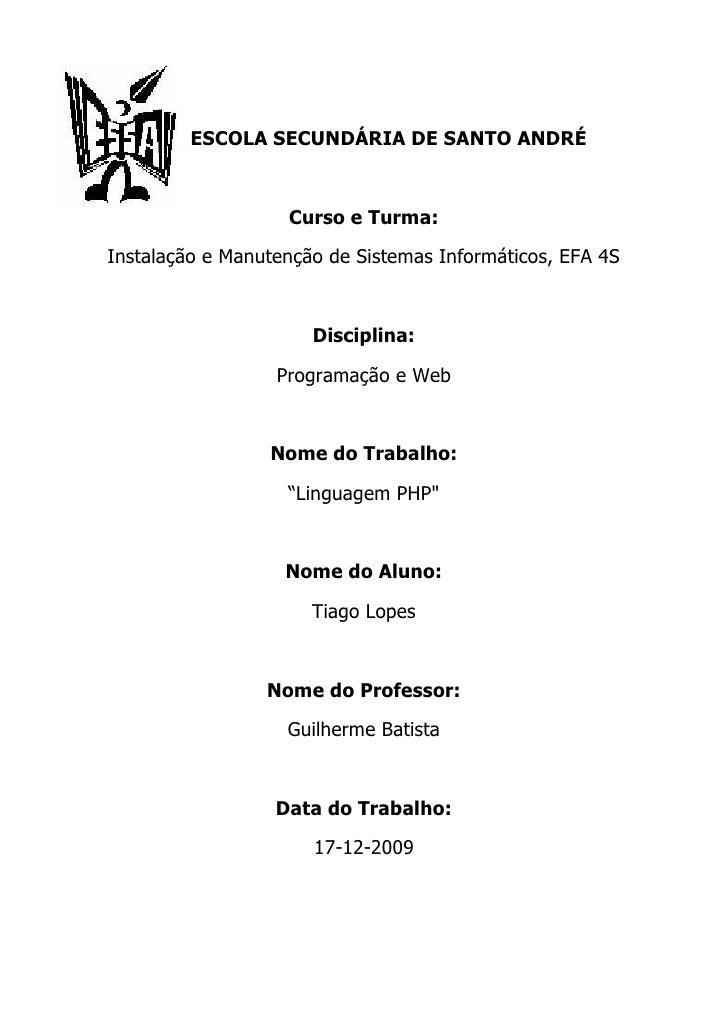 Índice Introdução                                Pag.1  Linguagem PHP                             Pag.2  Como surgiu a Lin...