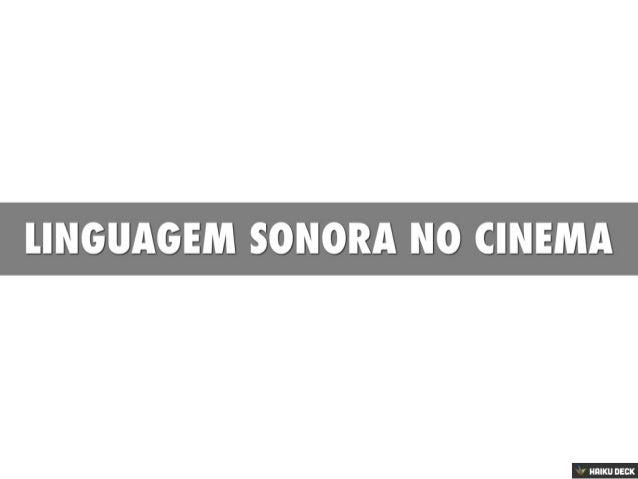 Linguagem Sonora