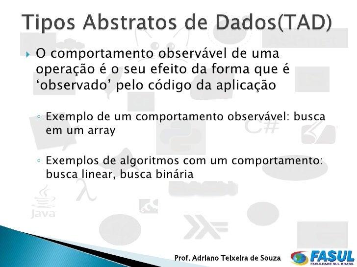 Tipos de dados abstratos