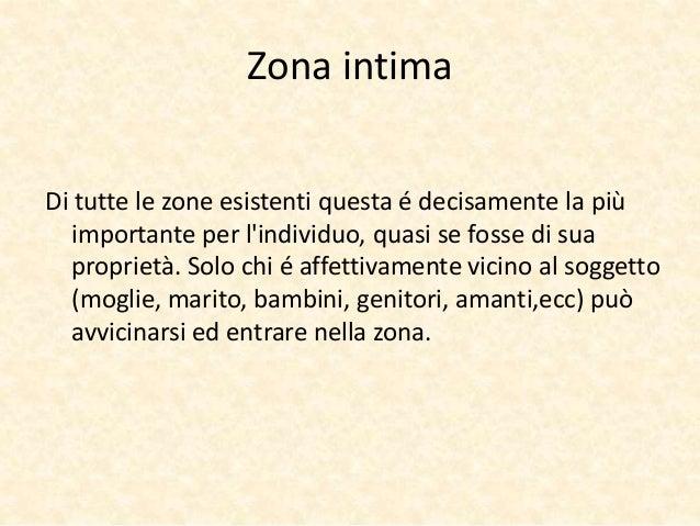 Zona intima  Di tutte le zone esistenti questa é decisamente la più  importante per l'individuo, quasi se fosse di sua  pr...