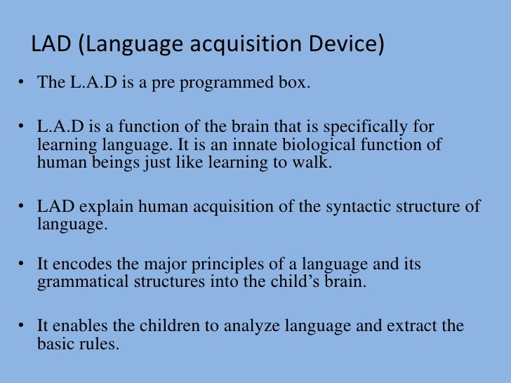 what is language acquisition device