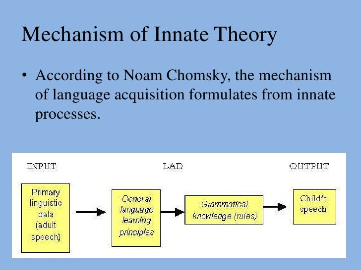 Noam chomskys idea of a generative grammar