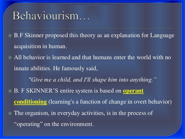 conditioning procedures in shaping childrens behaviour essay Reinforcement theory is the process of shaping behaviour by  four strategies of  reinforcement which are used in operant conditioning, such as.
