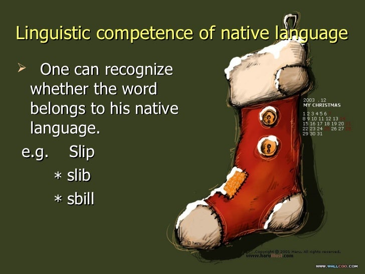 linguistic performance and competence Key words: fl teacher linguistic competence, early foreign language learning, fl   teacher linguistic performance, or if insufficient linguistic competence.