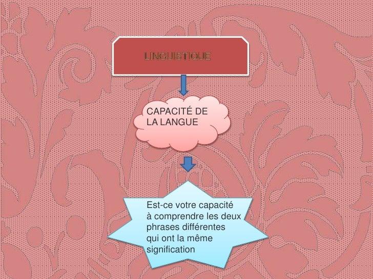 Linguistics Slide 2