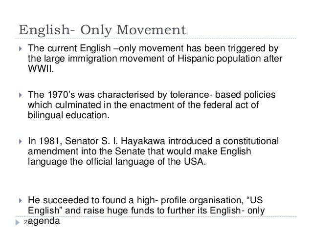 Languages in the united states english only movement sciox Image collections