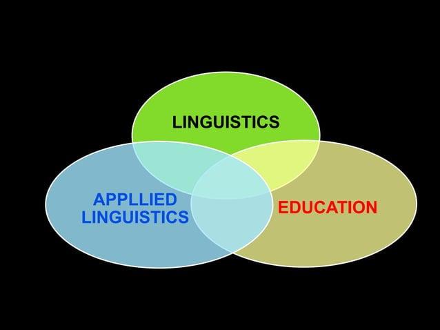 LINGUISTICS APPLLIED          EDUCATIONLINGUISTICS