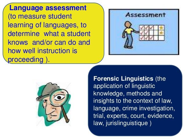 Language assessment(to measure studentlearning of languages, todetermine what a studentknows and/or can do andhow well ins...